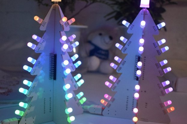 DIY Light Control LED Christma Tree Tower Kit