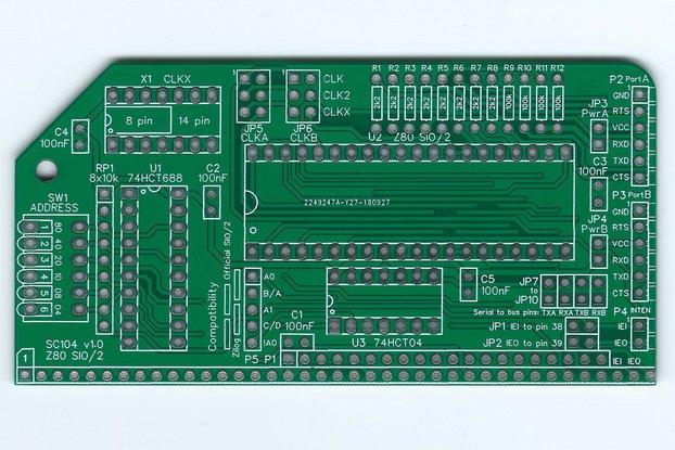 SC104 Z80 SIO/2 Board for RC2014