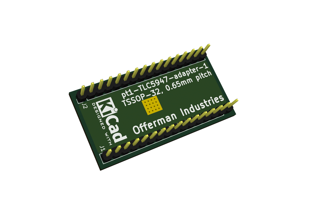 Breakout TLC5947 LED driver or other 32-pin TSSOP 6