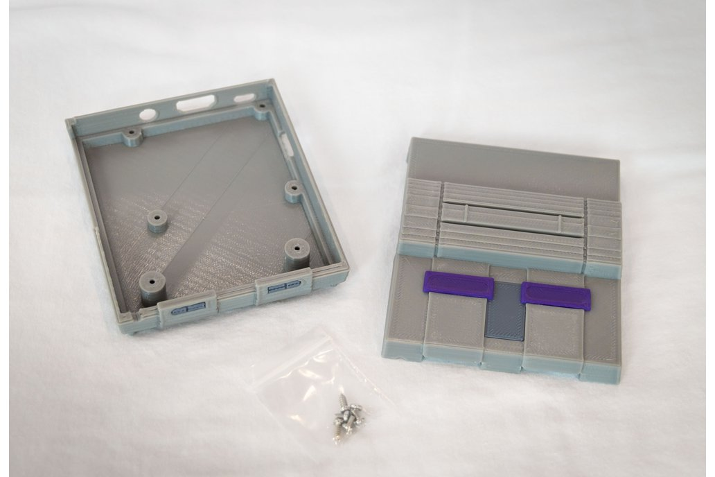 3D Printed SNES Case for Raspberry Pi w/ Fan & LED 11