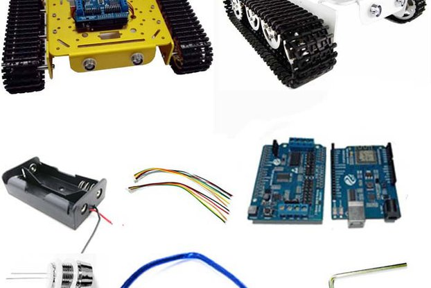 Arduino wireless wifi tank car kit
