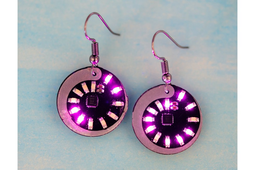 Spiral LED earrings (pair) 1