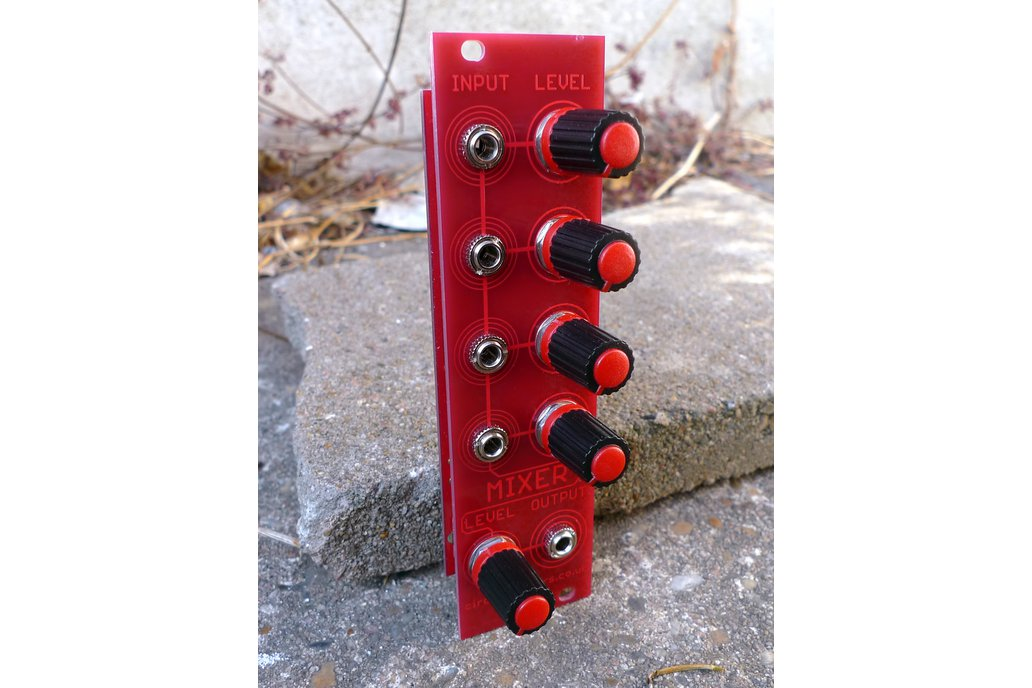 Redshift 4 channel mixer Eurorack module 1