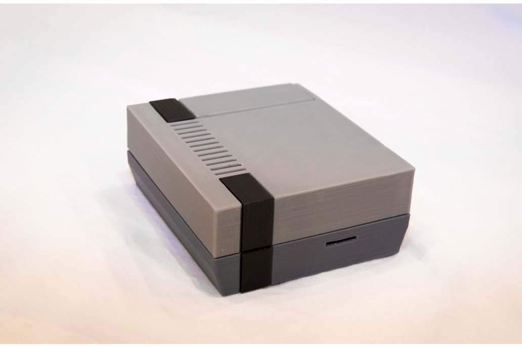 3D Printed NES Case for Raspberry Pi w/ Fan & LED 2