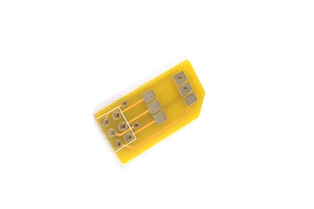 Micro SIM Adapter/Breakout w/ 6 Pin Header Pads 1