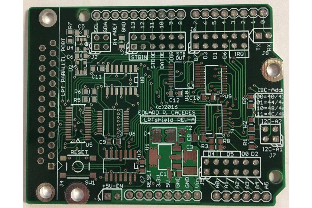 LPTshield - Parallel port for Arduinos! 1