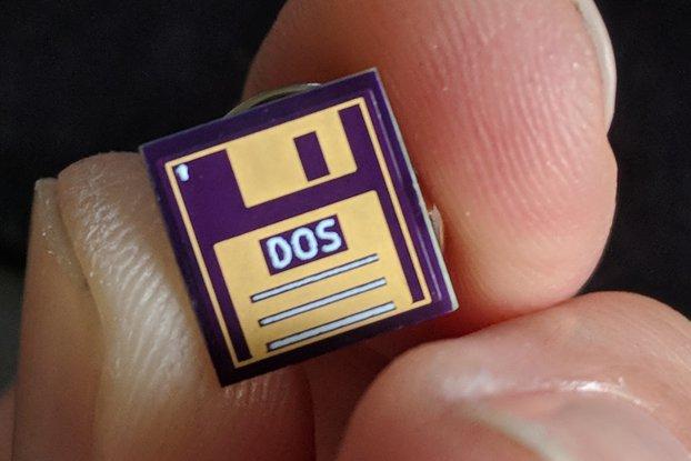 "3.5"" Floppy PCB Lapel Pin"