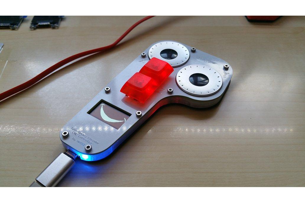 CNC Pendant with 2 Encoders, 2 Keys and Display 1