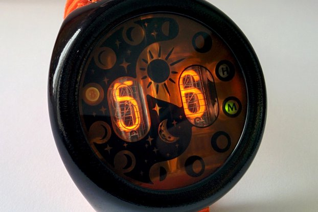 "Nixie Tube Watch ""MOONWATCHER"""