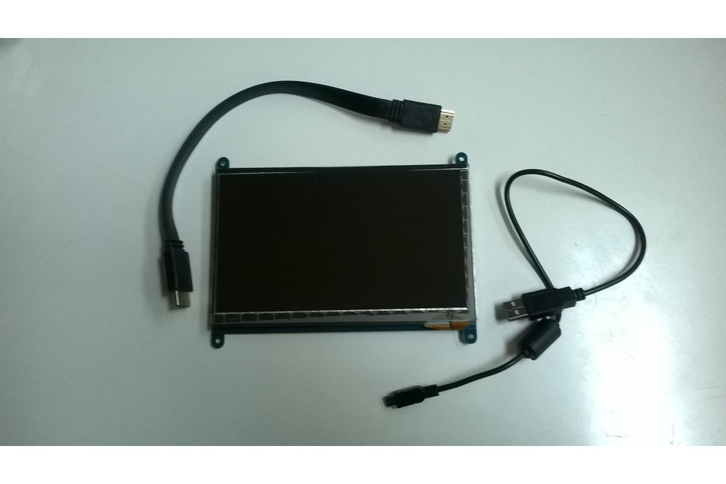 "LCD case and 7"" TouchScreen  for Raspberry Pi 2"