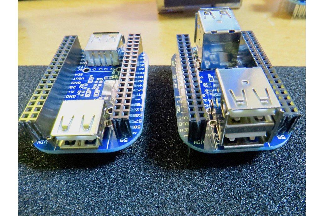 2/4-port USB 2.0 HUB Cape for PocketBeagle 1