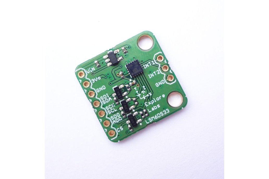LSM6DS33 3D Accelerometer + 3D Gyroscope Board 1