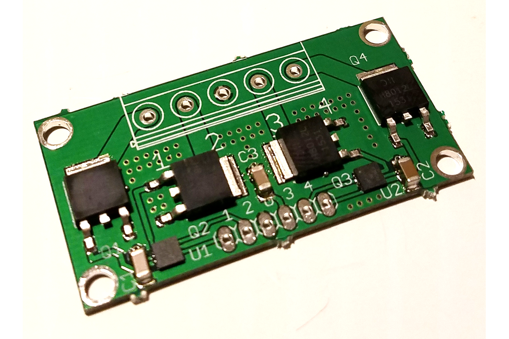 4-CH MOSFET w/FAN3224 driver IC 1