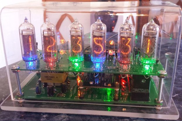 Six Digit Nixie Clock with IN-14 nixie tubes