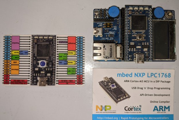 mbed ARM board + applications board