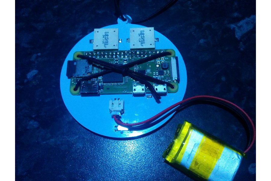 Christmas bauble PCB for the Raspberry Pi