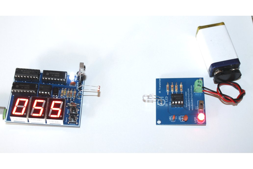 Digital objects counter using infrared, ldr, laser 1