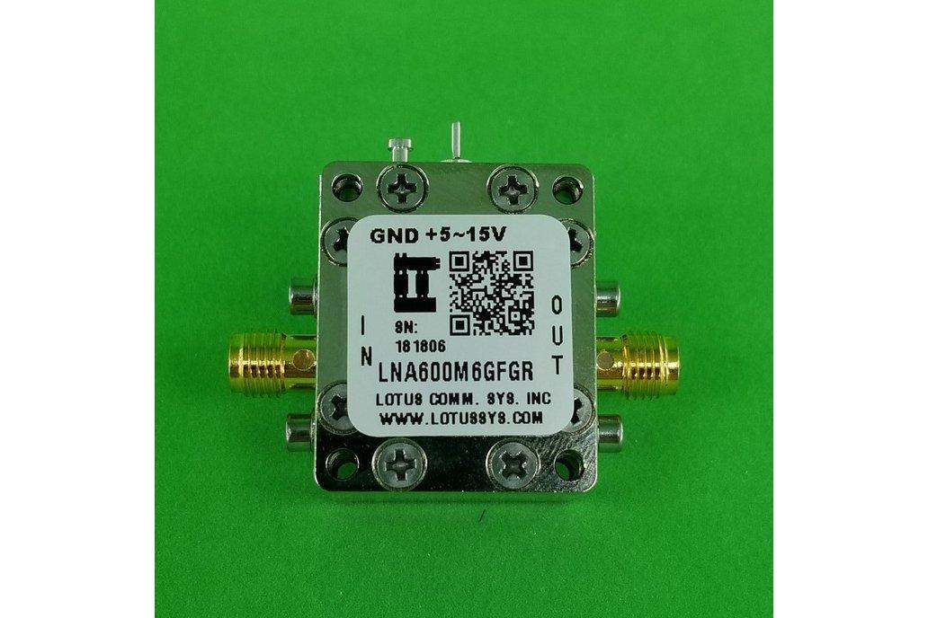 Broadband LNA with LDO 0.9dB NF 600M~6GHz SMA 1