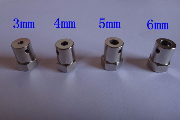 2pcs  iron hexagon coupling for car chassis