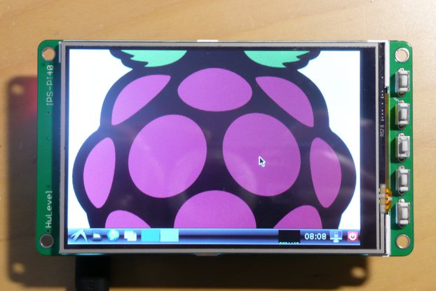 "4.0"" 480x320 IPS screen for Raspberry Pi"
