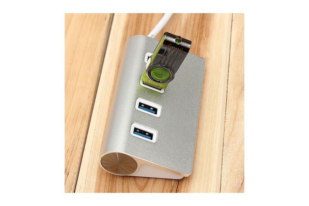 Hi-Speed Aluminum USB 3.0 4-Port Splitter Hub Adap 8