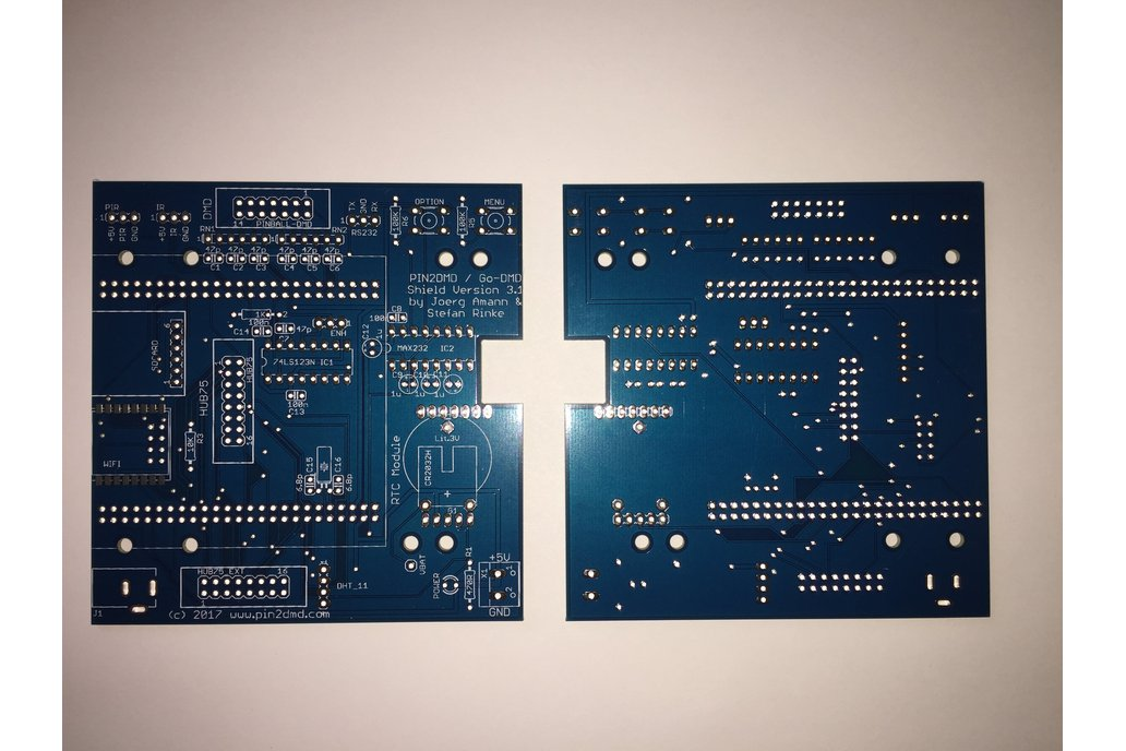 Pin2DMD / goDMD v3.1 bare blue PCB 1
