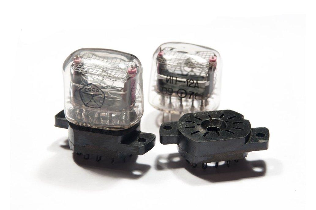 Nixie Tubes IN-12B (ИН-12Б) 6 pcs + 6 sockets 3