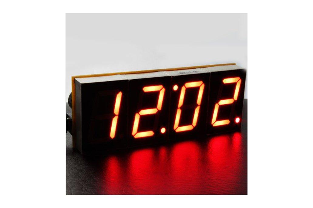 DIY 4 Digit LED Electronic Clock Kit Large Screen  6