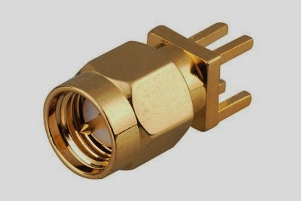 SMA-Male PCB Edge Mount Launch Connector 1.6 mm