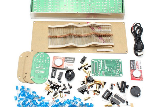 Large Screen Remote Clock Electronic DIY Kit