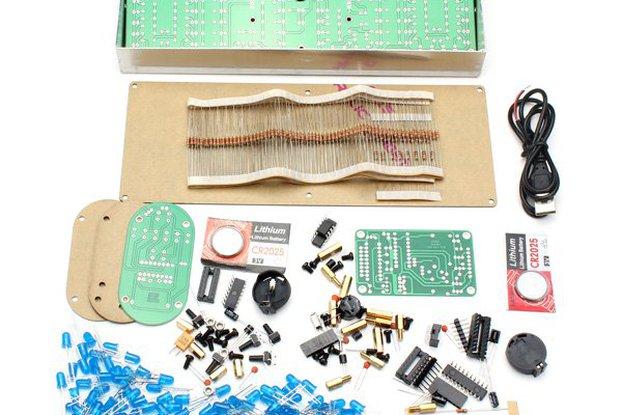Large Screen Remote Clock Electronic DIY Kit