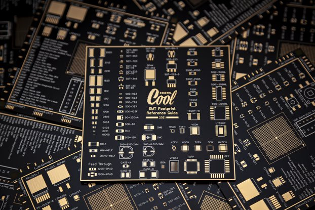 SMT Footprint Reference Guide PCB Coaster
