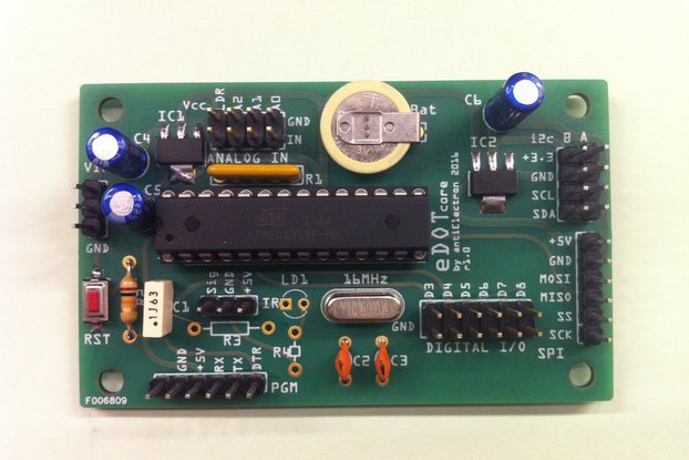 eDOTcore. Arduino compatible board w embedded RTC