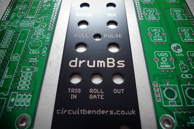 drumBs PCB's & panel - analogue percussion module
