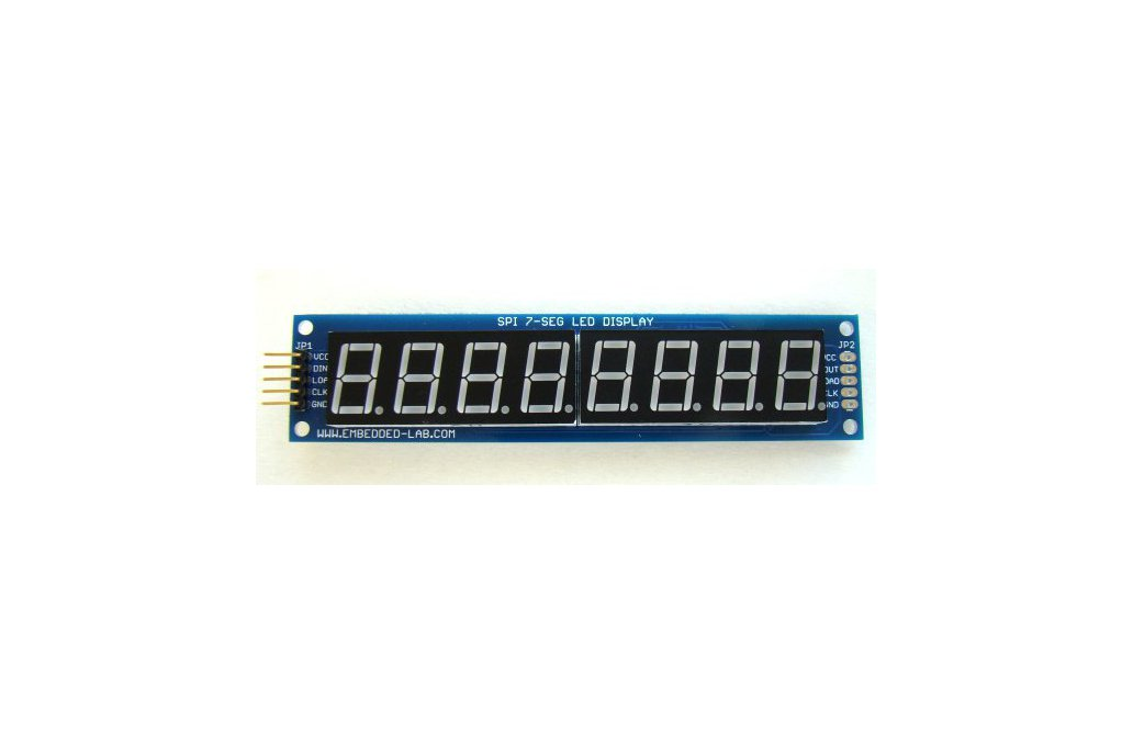 Serial 8-digit 7-segment LED display (Blue) 2