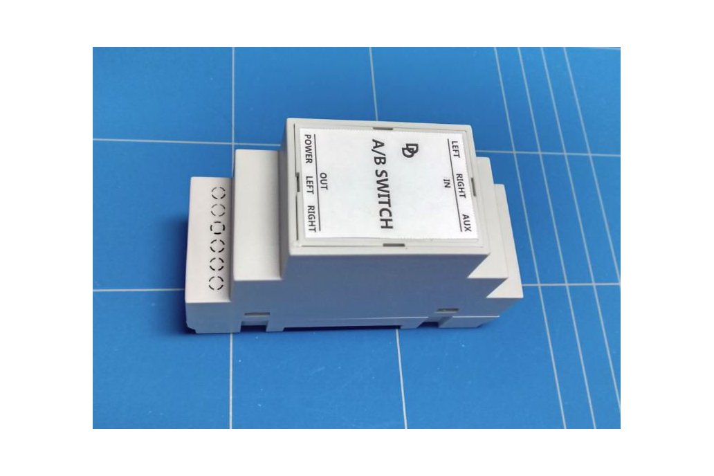 Auto A/B audio switch on DIN rail 1