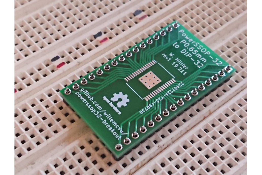PowerSSOP-32 P0.65mm to DIP-32 Breadboard Adapter 1