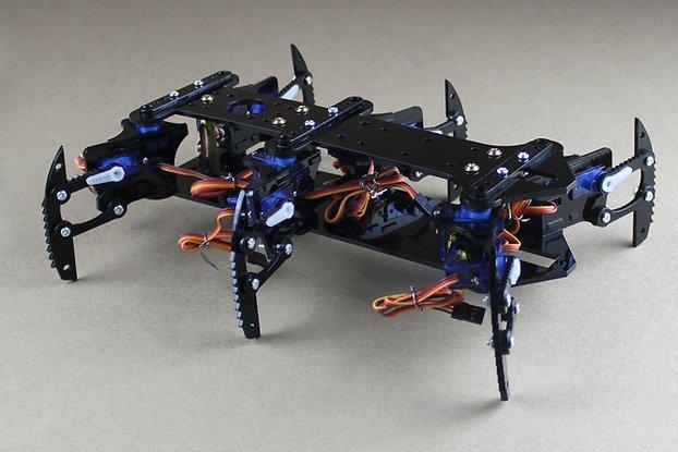 Acrylic Spider Hexapod Robot Kit