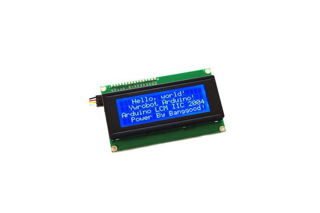 20 x 4 Character LCD Display Module (Blue) 1