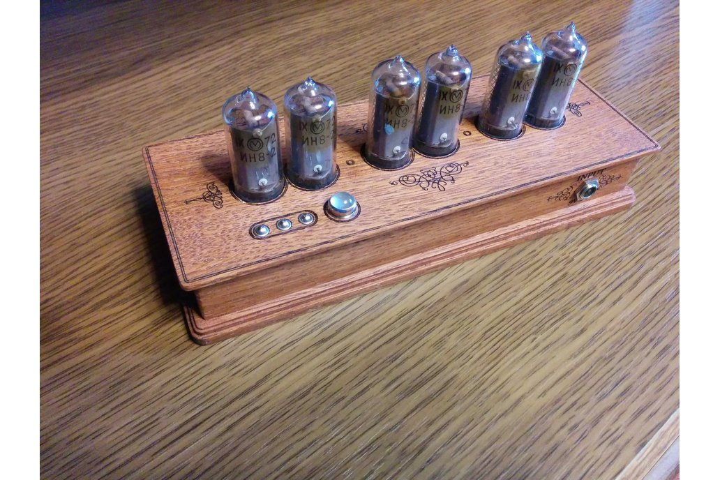 Vintage Nixie Clock On IN-8-2 Tubes In Wooden Case 6
