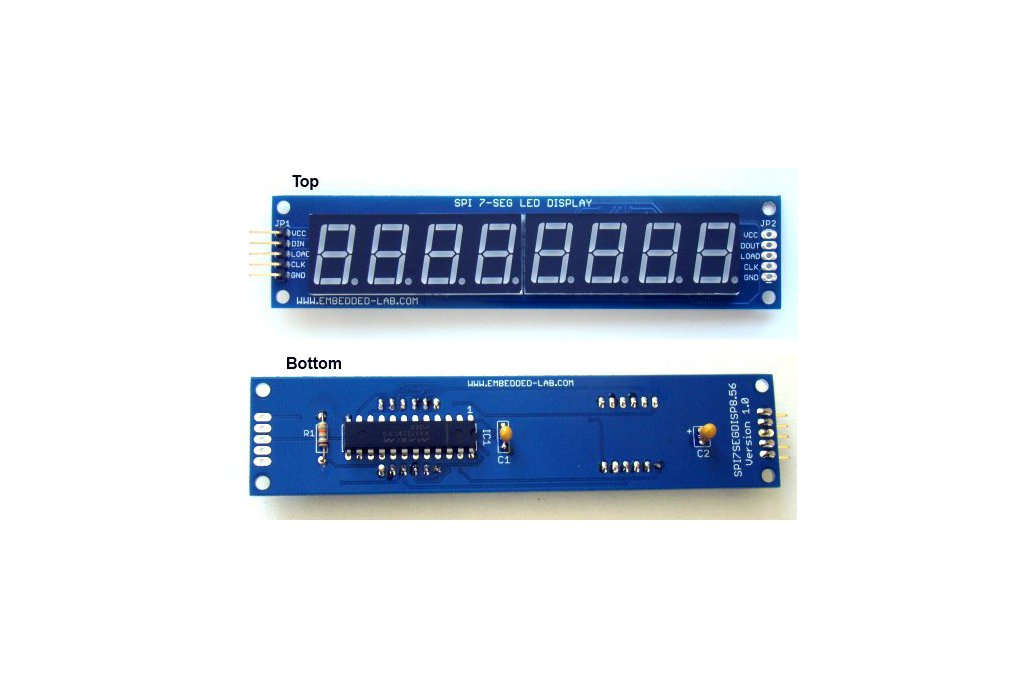 Serial 8-digit 7-segment LED display (Red) 3