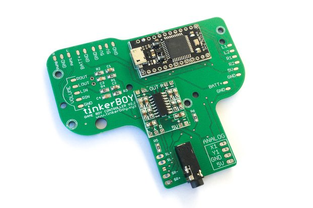 Game Boy Controller v2.2 with Pro Micro, Audio Amp