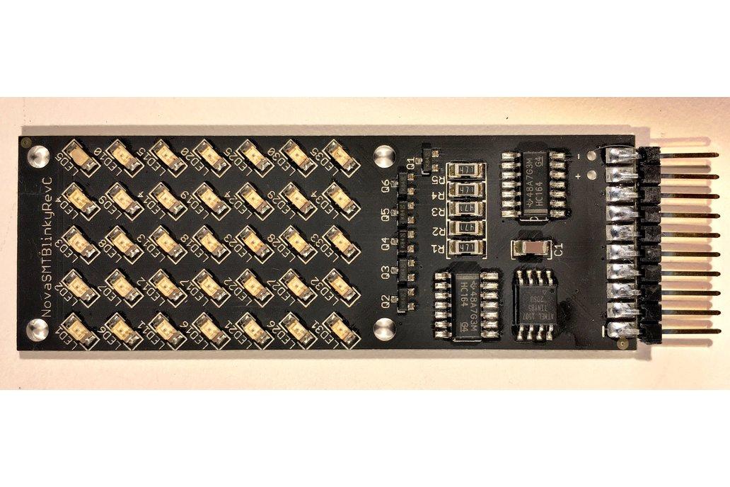 NOVA SMT BLINKY : Hackable 5x7 dot matrix 1