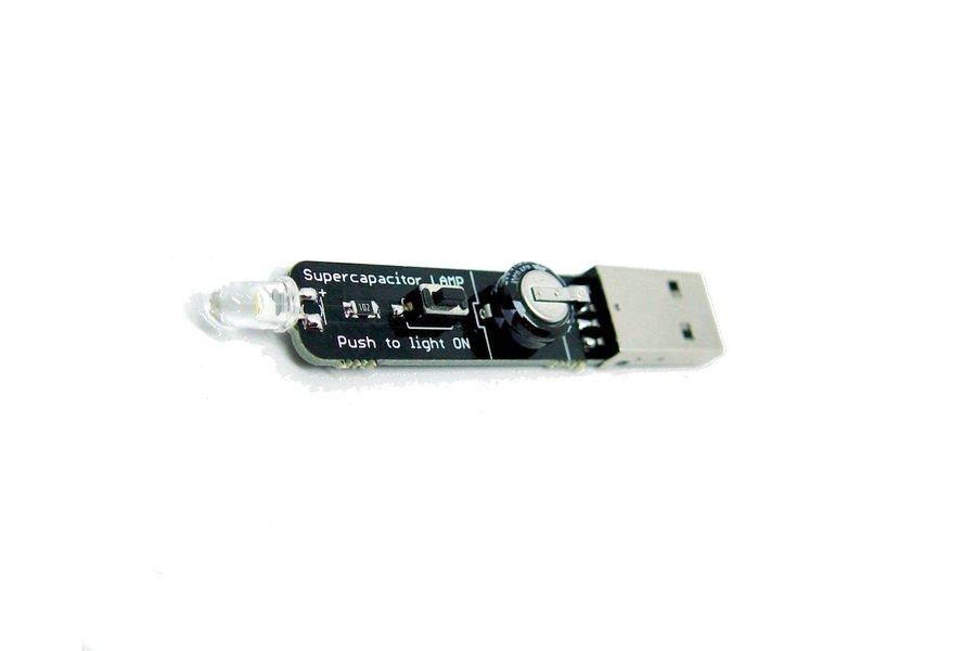 Super Capacitor White LED Lamp KIT