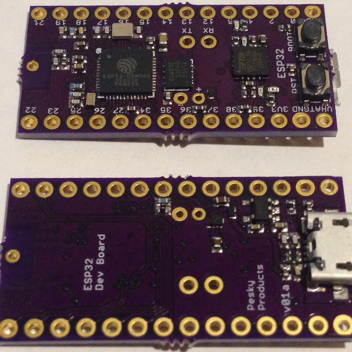 Smallest ESP32 Development Board from Pesky Products on Tindie