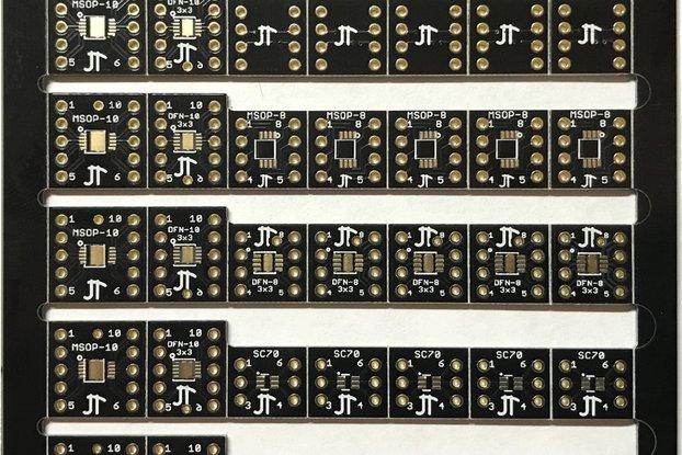 Huge Set of 50 Breakout Boards; SOIC, TSSOP, DFN