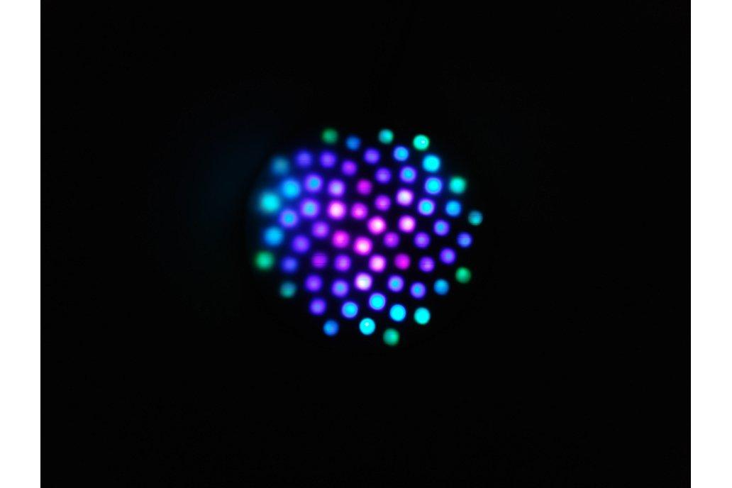 Fibonacci64 - 86mm disc with 64 WS2812B RGB LEDs 1