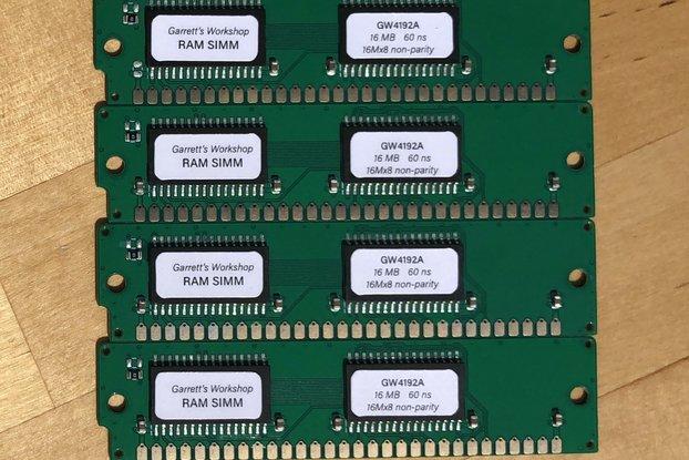 GW4192A -- 4x 16 MB 30-pin RAM SIMM (64 MB kit)