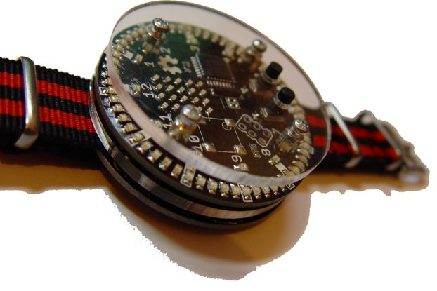 92 led charlieplexed ring circle watch, matrix