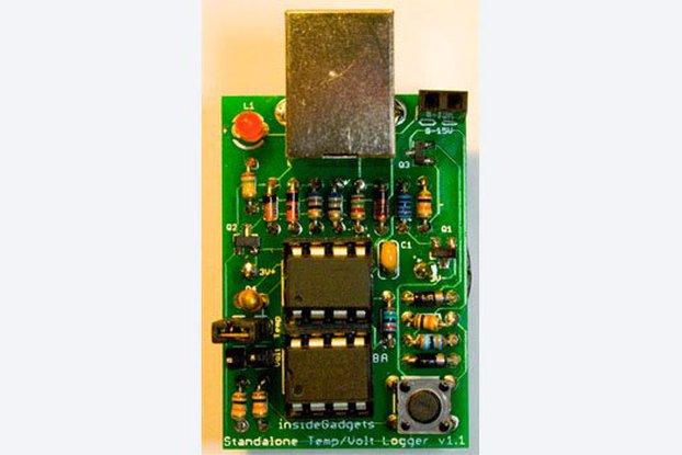 Standalone Temperature/Voltage Logger Kit
